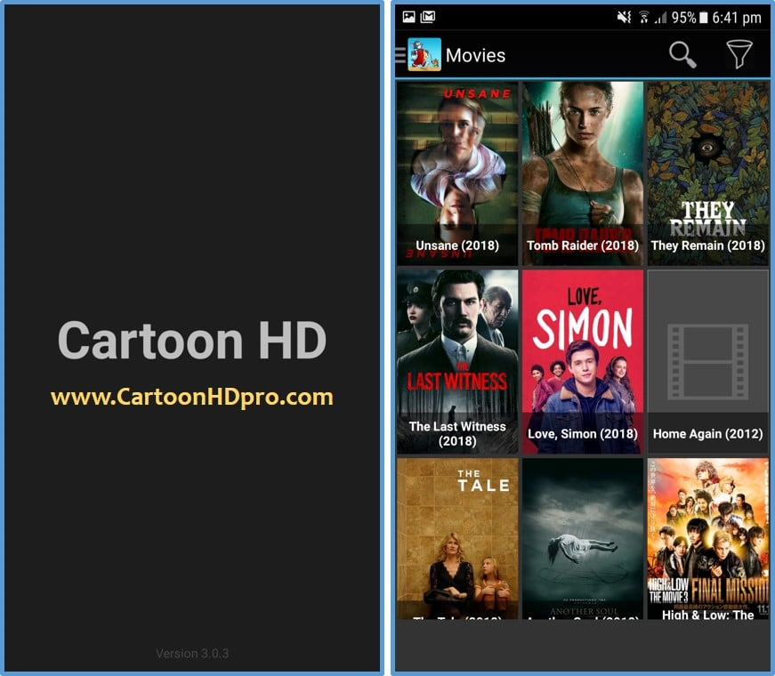 cartoon hd apk open